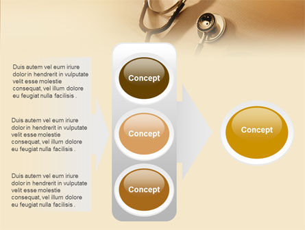 Phonendoscope In A Brown Color PowerPoint Template Slide 11