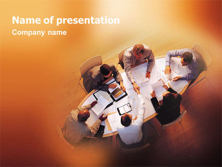 Consulting: Team Work PowerPoint Template #01624