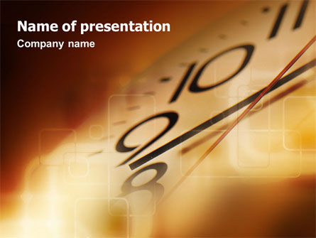 Business Concepts: Time Watching PowerPoint Template #01626