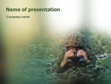 Military: Leger PowerPoint Template #01629