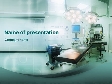 Medical: Plantilla de PowerPoint - sala de operaciones en colores aqua #01631