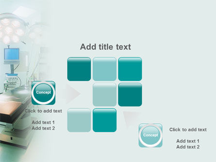 Operating Room In Aqua Colors PowerPoint Template Slide 16