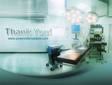 Operating Room In Aqua Colors PowerPoint Template Slide 20