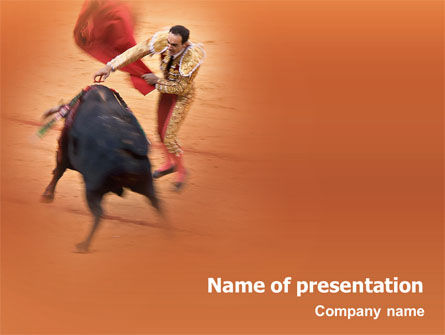 Corrida PowerPoint Template, 01632, Careers/Industry — PoweredTemplate.com