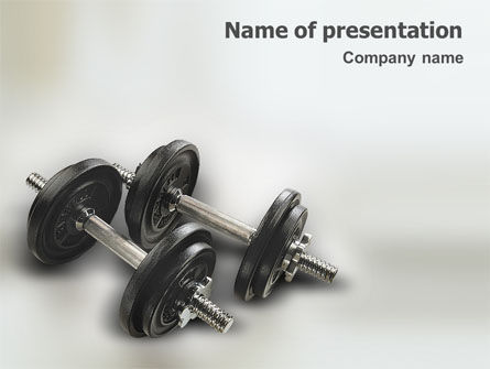 Bodybuilding PowerPoint Template, 01633, Sports — PoweredTemplate.com
