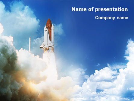 Space Research PowerPoint Template, 01634, Construction — PoweredTemplate.com