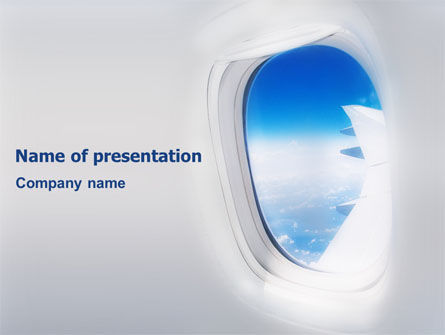 Cars and Transportation: Airplane PowerPoint Template #01635