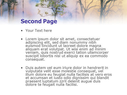 Forest Fire PowerPoint Template Slide 2