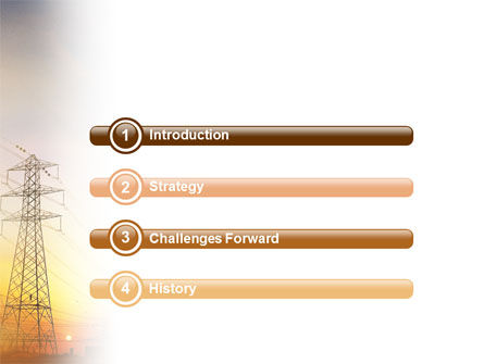 Power Line PowerPoint Template, Slide 3, 01638, Utilities/Industrial — PoweredTemplate.com