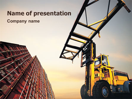 Shipping PowerPoint Template, 01639, Utilities/Industrial — PoweredTemplate.com