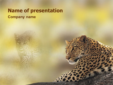 Animals and Pets: Luipaard PowerPoint Template #01640