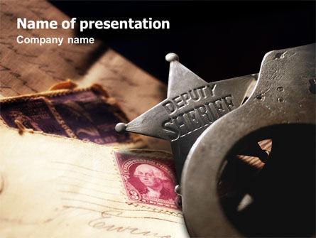 Deputy Sheriff PowerPoint Template, 01641, America — PoweredTemplate.com