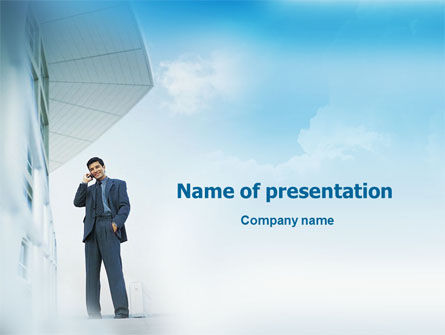 Business Talk Outdoor PowerPoint Template, 01643, Business — PoweredTemplate.com