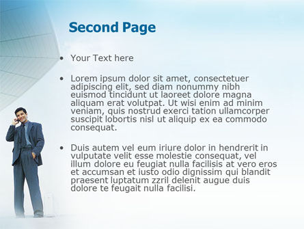 Business Talk Outdoor PowerPoint Template Slide 2