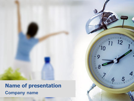 Morning Exercises PowerPoint Template, 01644, Sports — PoweredTemplate.com