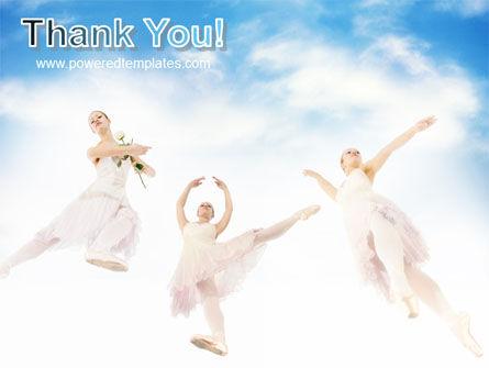 Flying Ballerinas PowerPoint Template Slide 20