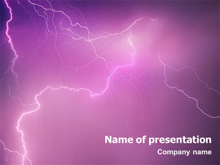 Lightning PowerPoint Template, 01647, Nature & Environment — PoweredTemplate.com