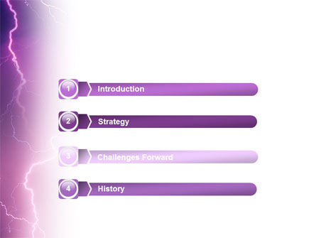 Lightning PowerPoint Template, Slide 3, 01647, Nature & Environment — PoweredTemplate.com
