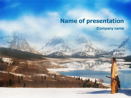 America: Native American PowerPoint Template #01648