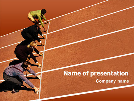 Office Race PowerPoint Template