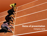 Business Concepts: Office Race PowerPoint Template #01651