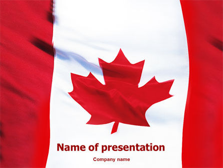 Flags/International: Canadian Flag PowerPoint Template #01654