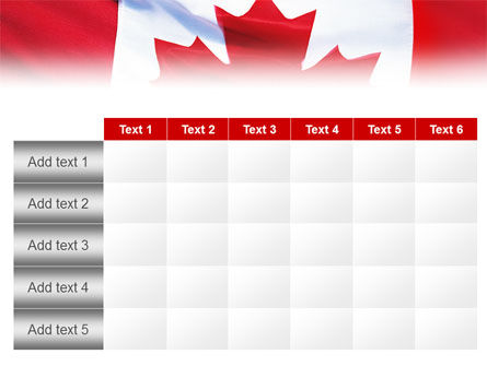 Canadian Flag PowerPoint Template Slide 15