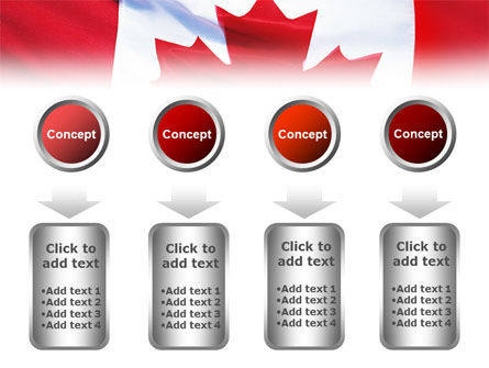 Canadian Flag PowerPoint Template Slide 18