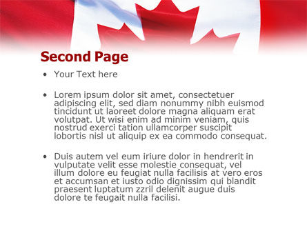 Canadian Flag PowerPoint Template Slide 2