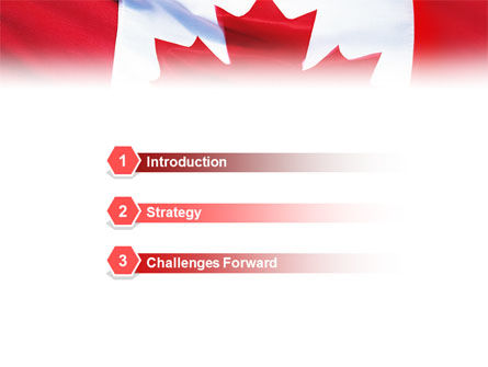 Canadian Flag PowerPoint Template Slide 3