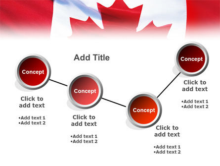 Canadian Flag PowerPoint Template Slide 6