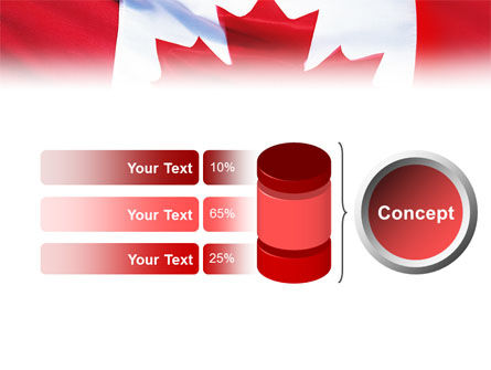 Canadian Flag PowerPoint Template Slide 8