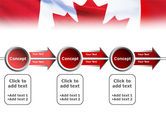 Canadian Flag PowerPoint Template#11