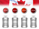 Canadian Flag PowerPoint Template#18