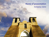San Francisco de Asis Mission Church PowerPoint Template#1