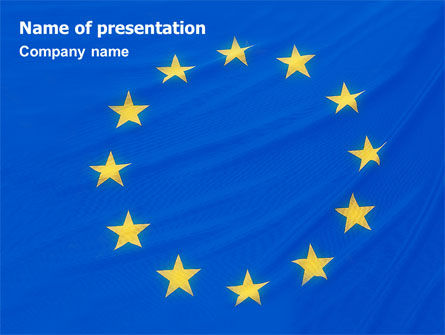 European Union Flag PowerPoint Template, 01657, Flags/International — PoweredTemplate.com