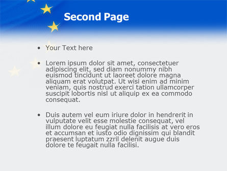European Union Flag PowerPoint Template, Slide 2, 01657, Flags/International — PoweredTemplate.com