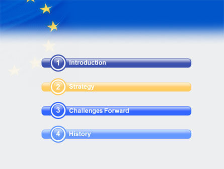 european union flag powerpoint template, backgrounds | 01657, Modern powerpoint