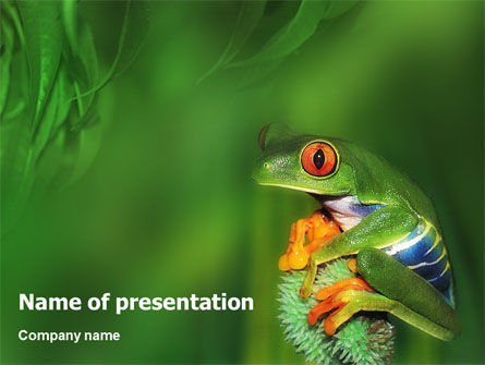 Animals and Pets: Frog PowerPoint Template #01658