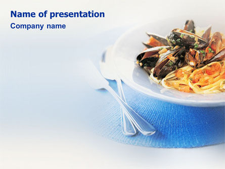 Sea Food PowerPoint Template, 01661, Food & Beverage — PoweredTemplate.com
