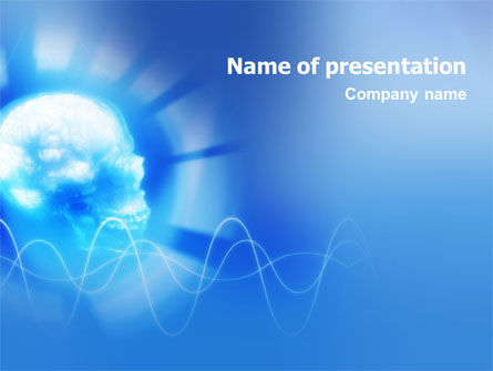 Skull PowerPoint Template, 01662, Medical — PoweredTemplate.com