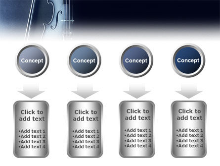 Violin In Dark Blue PowerPoint Template Slide 18