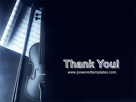 Violin In Dark Blue PowerPoint Template Slide 20