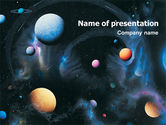 Technology and Science: Planets PowerPoint Template #01667