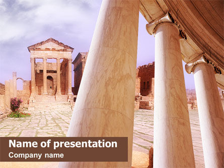 Ancient Greece Powerpoint Template Ruins Of Ancient Greek Temple Powerpoint Template