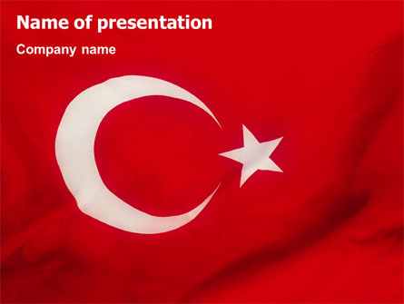 Turkish Flag PowerPoint Template, 01671, Flags/International — PoweredTemplate.com