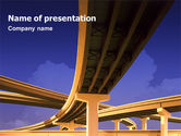 Construction: Road Interchange PowerPoint Template #01673