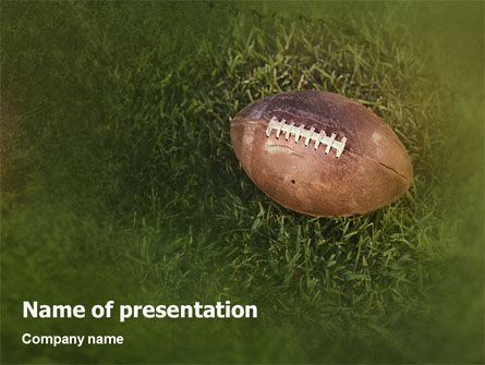 Sports: American Football Play Off PowerPoint Template #01674