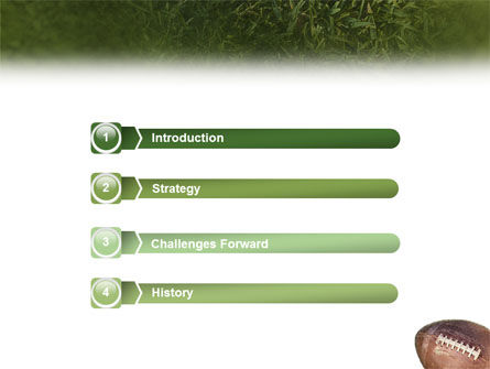American Football Play Off PowerPoint Template, Slide 3, 01674, Sports — PoweredTemplate.com