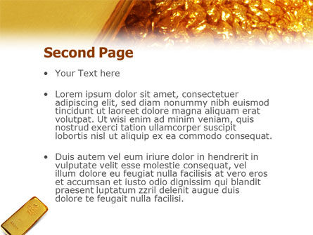 Gold PowerPoint Template, Slide 2, 01675, Financial/Accounting — PoweredTemplate.com